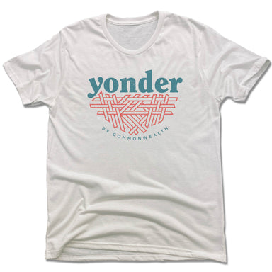 YONDER | UNISEX WHITE Recycled Tri-Blend | COLOR LOGO