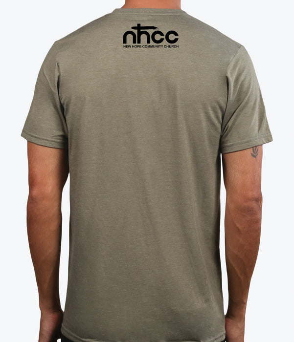 NHCC | UNISEX OLIVE Recycled Tri-Blend | FAITH OVER FEAR