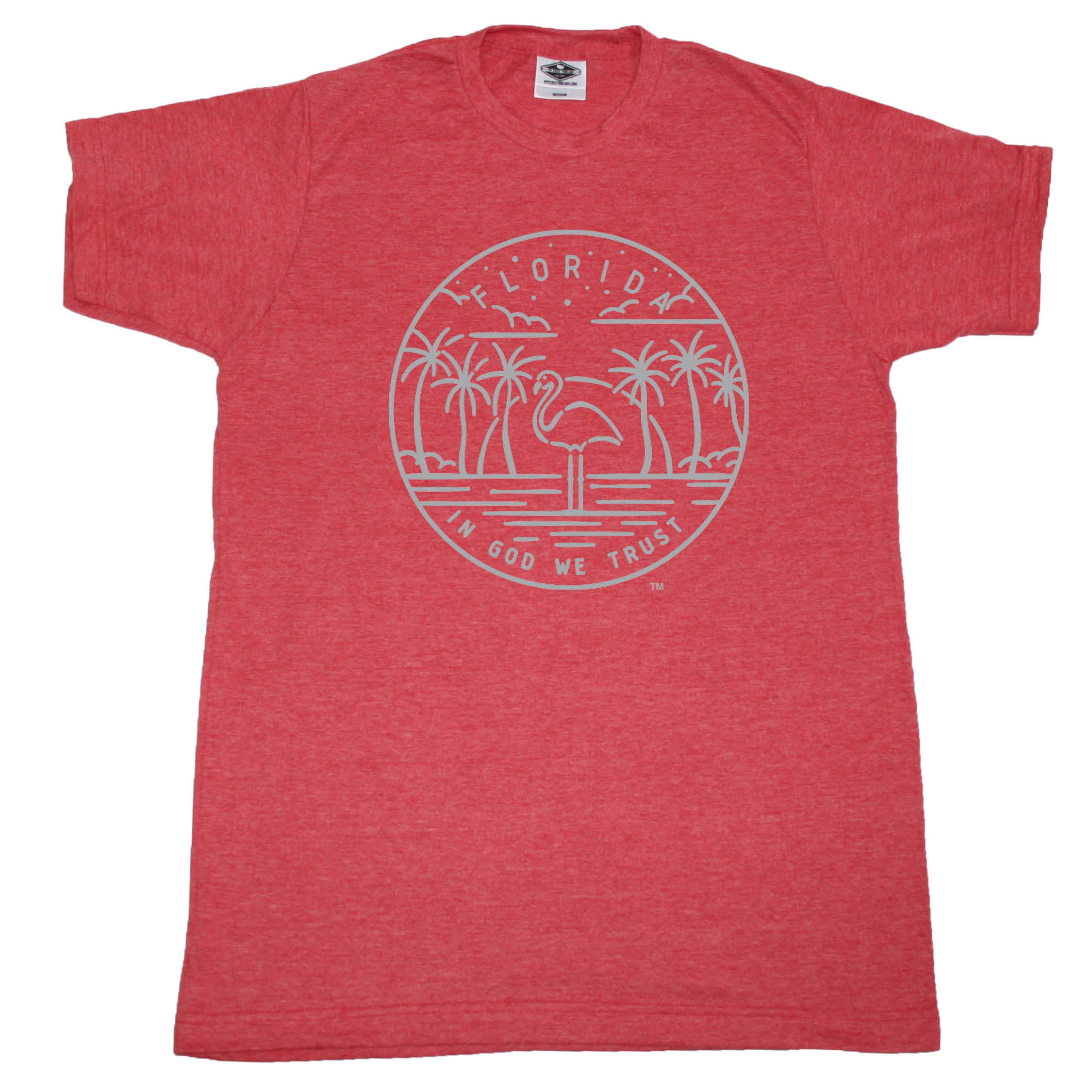 FLORIDA RED TEE | STATE SEAL | IN GOD WE TRUST