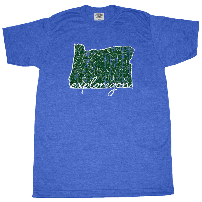 OREGON BLUE TEE | EXPLOREGON | MAP