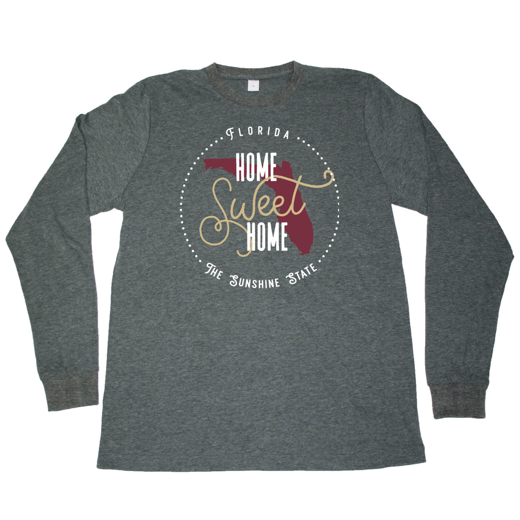 FLORIDA LONG SLEEVE TEE | HOME SWEET HOME | GARNET/GOLD