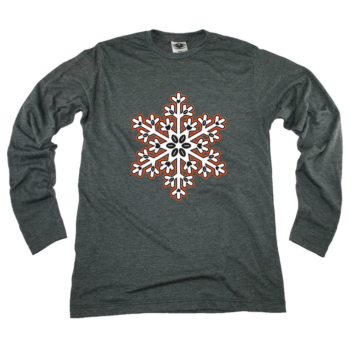 OHIO LONG SLEEVE TEE | SNOWFLAKE | ORANGE/BLACK