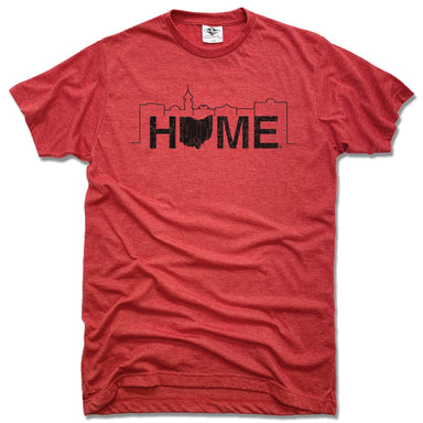 JK GIFT SHOP | UNISEX RED TEE | HOME MEDINA SKYLINE