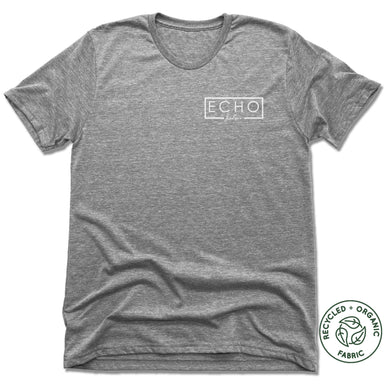 ECHO SALON | UNISEX GRAY Recycled Tri-Blend | LOGO