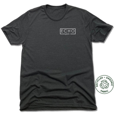 ECHO SALON | UNISEX BLACK Recycled Tri-Blend | LOGO