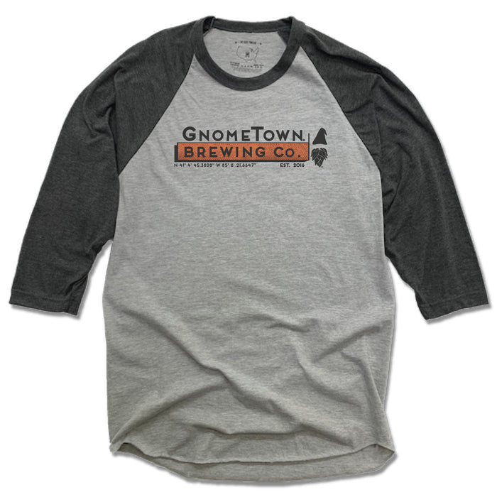 GNOMETOWN BREWING | GRAY 3/4 SLEEVE | GNOMETOWN