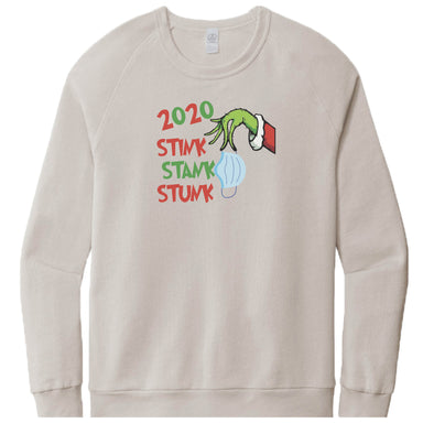 LIGHT GRAY FRENCH TERRY SWEATSHIRT | Stink Stank Stunk