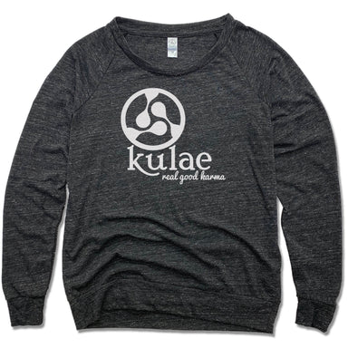 KULAE YOGA | LADIES SLOUCHY | WHITE LOGO