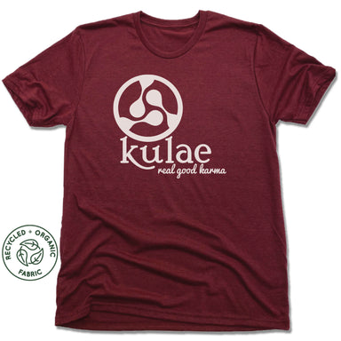 KULAE YOGA | UNISEX VINO RED Recycled Tri-Blend | WHITE LOGO