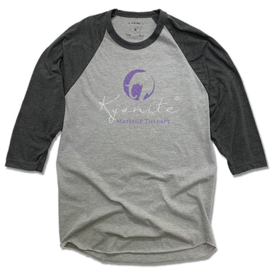 KYANITE MASSAGE THERAPY | GRAY 3/4 SLEEVE | COLOR LOGO