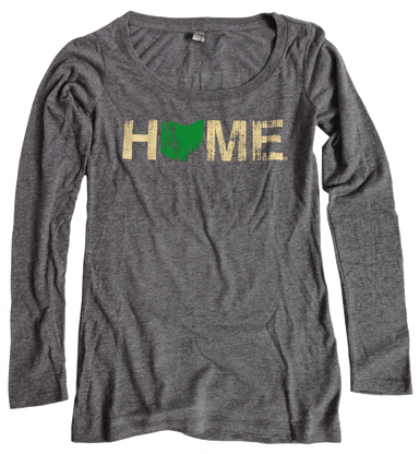 Ladies' Ohio Scoopneck | Green/Eggshell