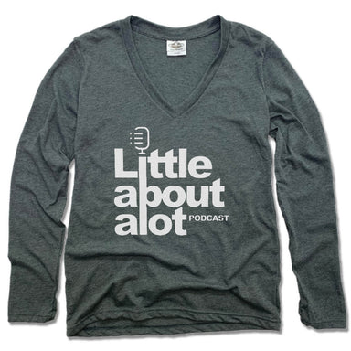 LITTLE ABOUT ALOT PODCAST | LADIES' LONG SLEEVE TEE | WHITE LOGO