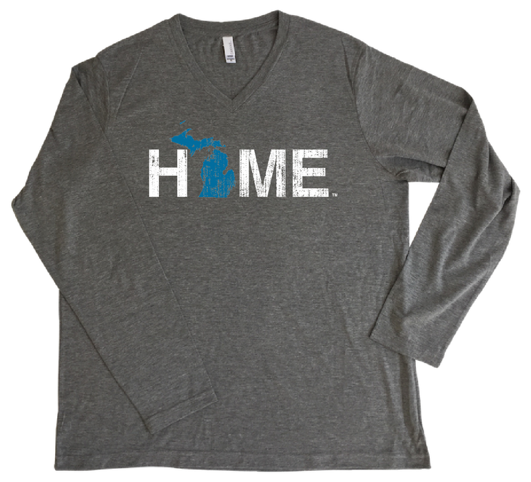 MICHIGAN LONGSLEEVE V-NECK | HOME | BLUE