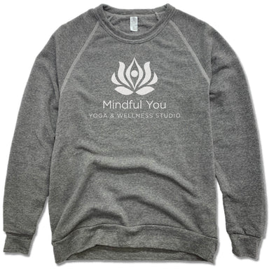 MINDFUL YOU YOGA & WELLNESS | FLEECE SWEATSHIRT | WHITE LOGO