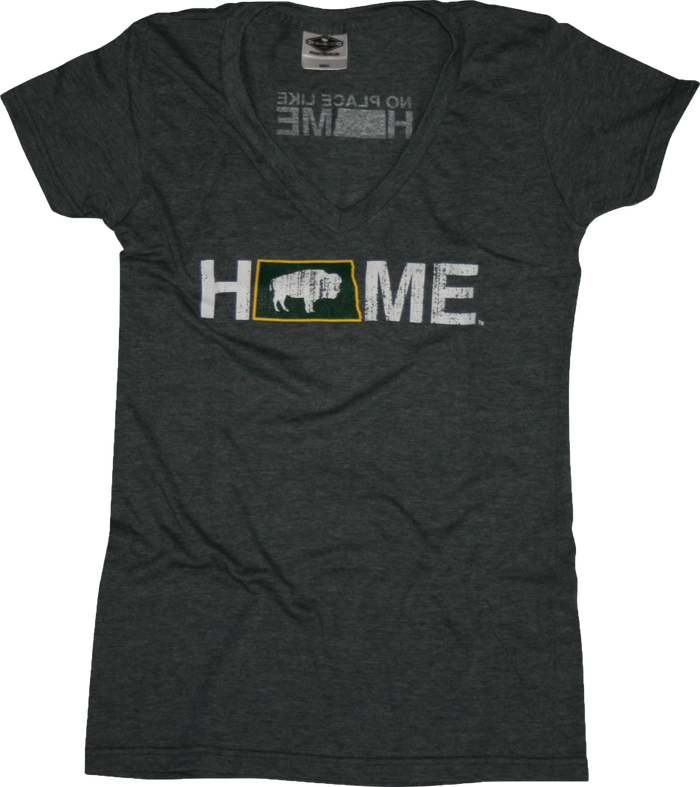 Ladies' North Dakota V-Neck | HOME | Bison