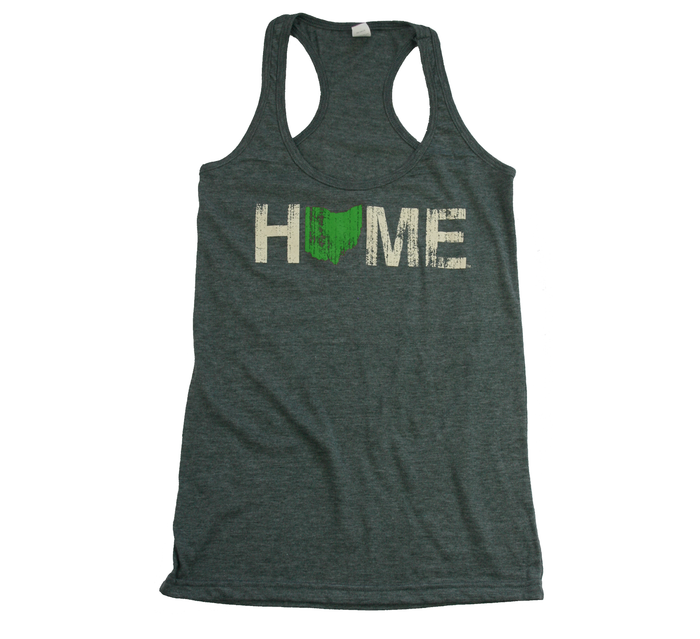 Ladies' Ohio Tank | HOME | Green/Eggshell