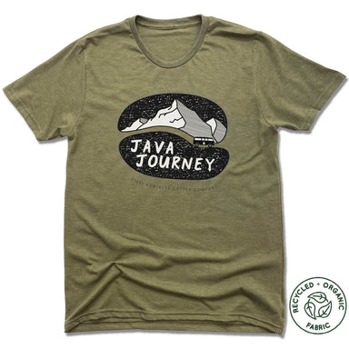 STEEL FORTRESS COFFEE | UNISEX OLIVE Recycled Tri-Blend | BLACK LOGO