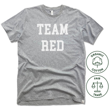 ECHO SALON | FAIRTRADE FREESET UNISEX TEE | TEAM RED
