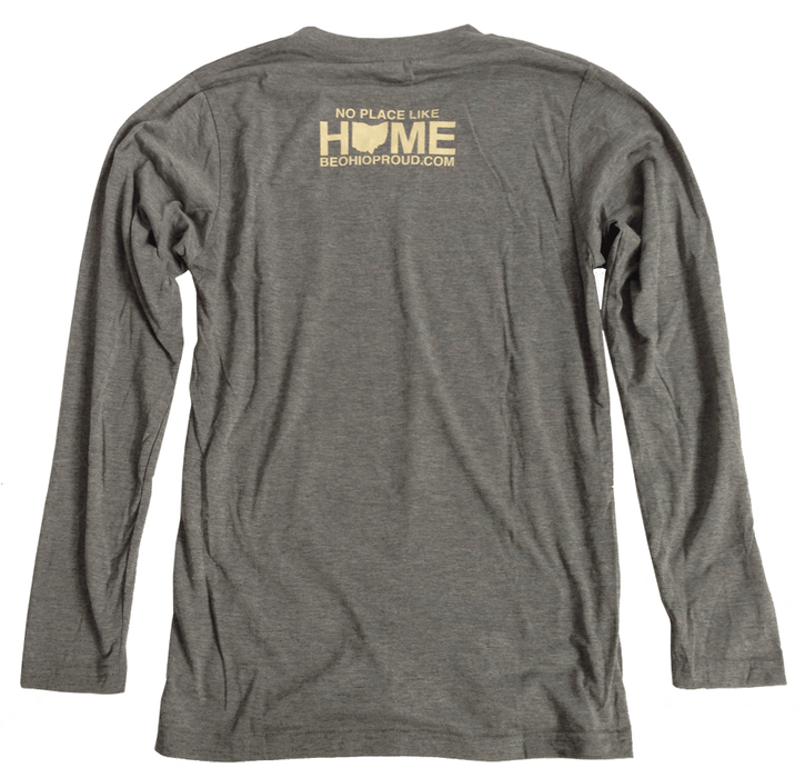 OHIO LONG SLEEVE V-NECK | HOME | GREEN/EGGSHELL