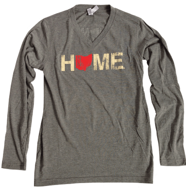OHIO LONGSLEEVE V-NECK | HOME | RED/EGGSHELL