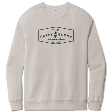 GNOMETOWN BREWING | LIGHT GRAY FRENCH TERRY SWEATSHIRT | VINTAGE LOGO