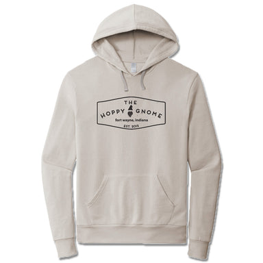 GNOMETOWN BREWING | LIGHT GRAY FRENCH TERRY HOODIE | VINTAGE LOGO