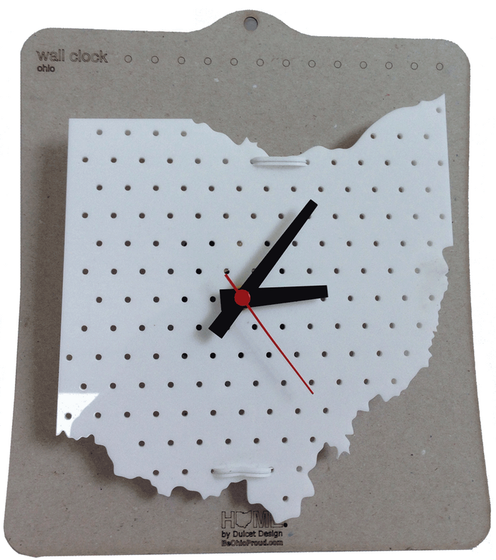 OHIO CLOCK | PEGBOARD | WHITE