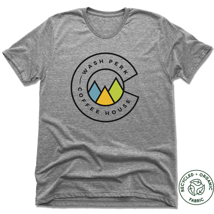 WASHPERK COFFEE HOUSE | UNISEX GRAY Recycled Tri-Blend | MOUNTAINS