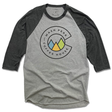 WASHPERK COFFEE HOUSE | GRAY 3/4 SLEEVE | MOUNTAINS