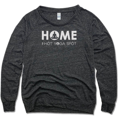 THE HOT YOGA SPOT | LADIES SLOUCHY | HOME LOGO WHITE