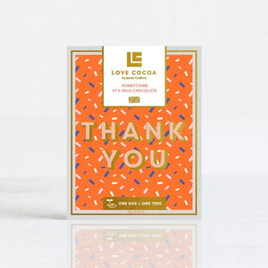 "Sjokolade "" Thank you"" milk/honeycomb"