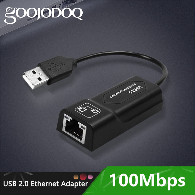 USB Ethernet Adapter USB 2.0 Network Card to RJ45 Lan for Win7/Win8/Win10 Laptop Ethernet USB