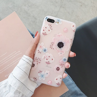 Luxury 3D Floral Case For iPhone X XS MAX XR 7 8 Plus Silicone