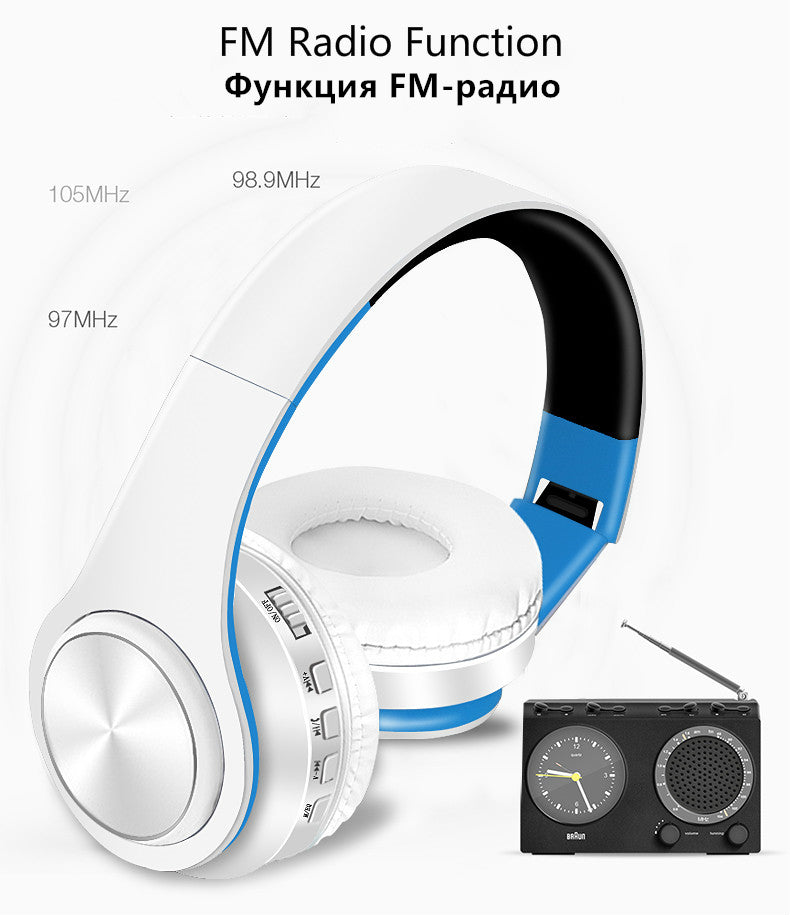 Tourya B7 Wireless Headphones Bluetooth Headset Foldable  With Mic for phone Pc Lattop Mp3 TV