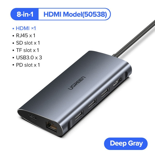 Ugreen Thunderbolt 3 Dock USB Type C to HDMI HUB Adapter