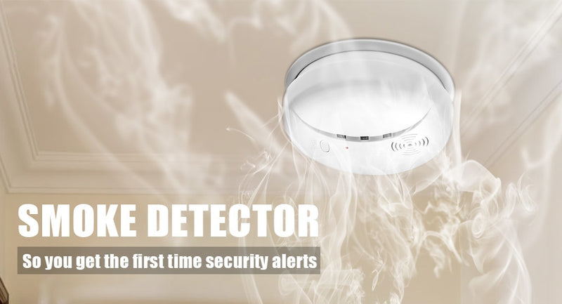 Home Security Smart Wireless Independent High Sensitive Smoke Fire