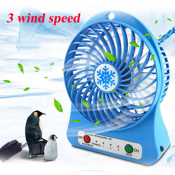 Summer Portable Mini Fan  With LED Light Handheld