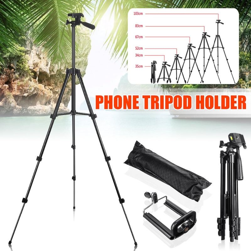 Extendable 36-100cm Universal Adjustable Tripod Stand Mount Holder Clip