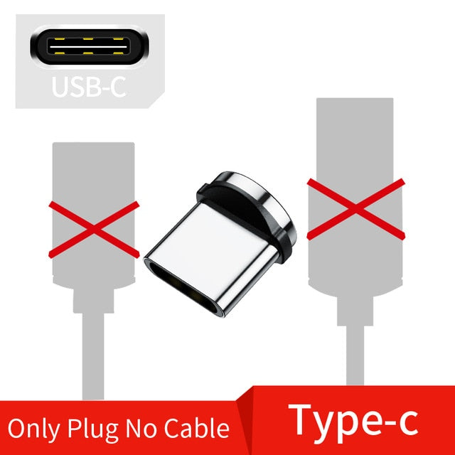 Magnetic Cable Micro USB Type C Cable For iPhone xs Samsung Fast Charging Magnetic Charger USB Cables  Mobile Phone Cord