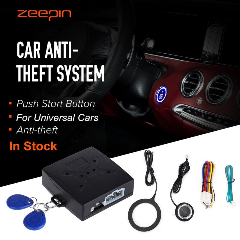 Auto Car Alarm Car Engine Push Start Button RFID Lock Ignition Starter Keyless Entry Start Stop Immobilizer Anti-theft System