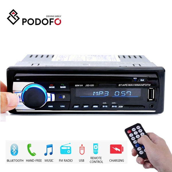 Podofo 1DIN In-Dash Car Radios Stereo Remote Control Digital