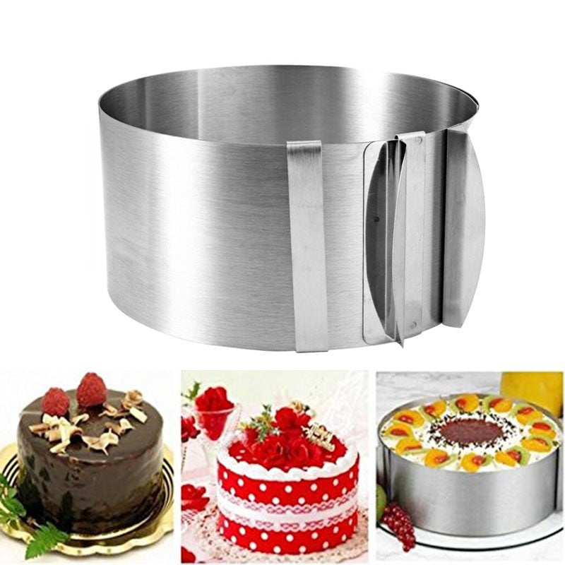 New Arrival Hot Sale Retractable Stainless Steel Circle Mousse Ring Baking Tool Set