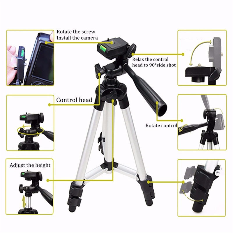 Extendable  Camera Tripod Stand Mount Holder Clip Set