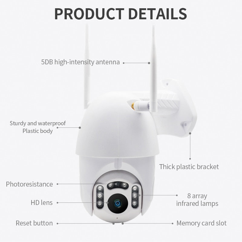 Night Vision Waterproof Surveillance RJ45/Wifi Dome CCTV Camera