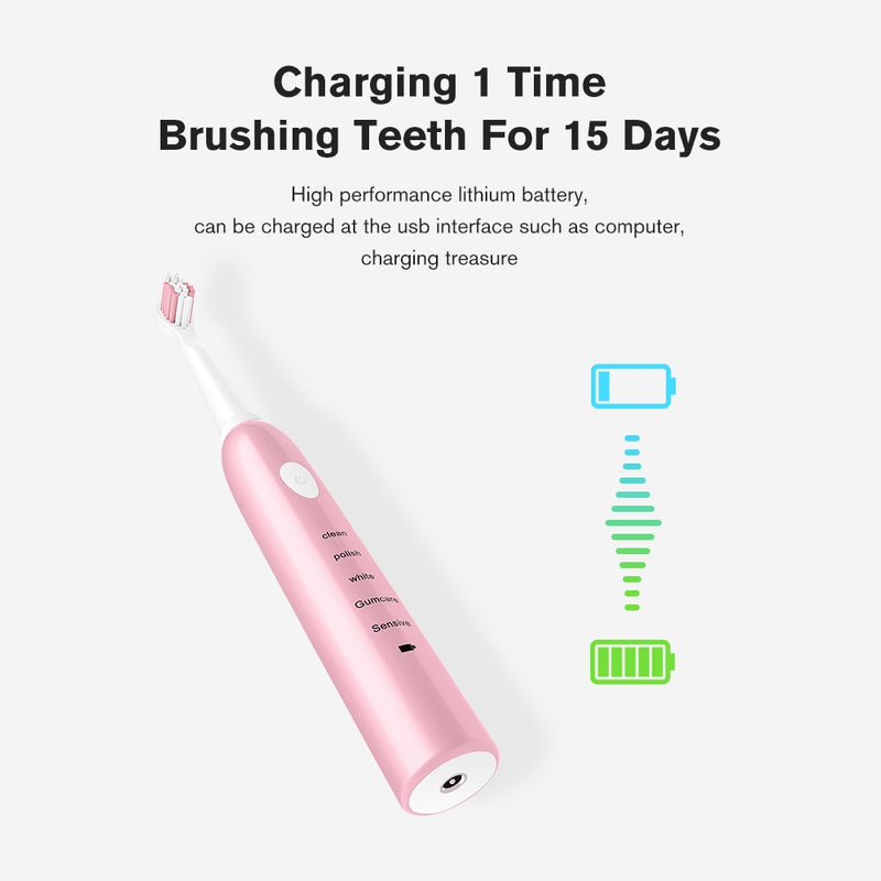 Powerful Ultrasonic Sonic Electric Toothbrush
