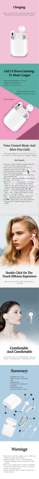 i9s TWS Wireless Earphones Earpiece Bluetooth Headsets For iphone Android Phone