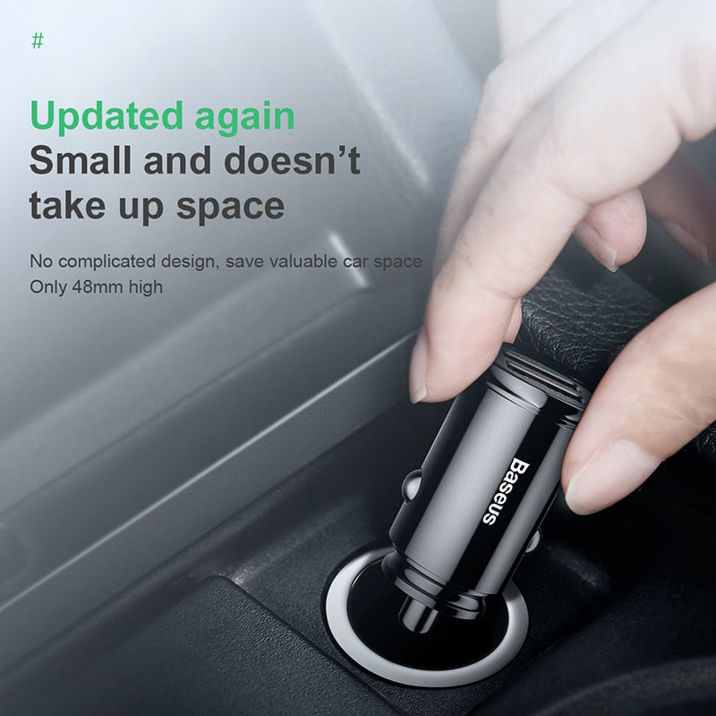 Baseus Quick Charge 4.0 3.0 USB Car Charger For iPhone Xiaomi Huawei