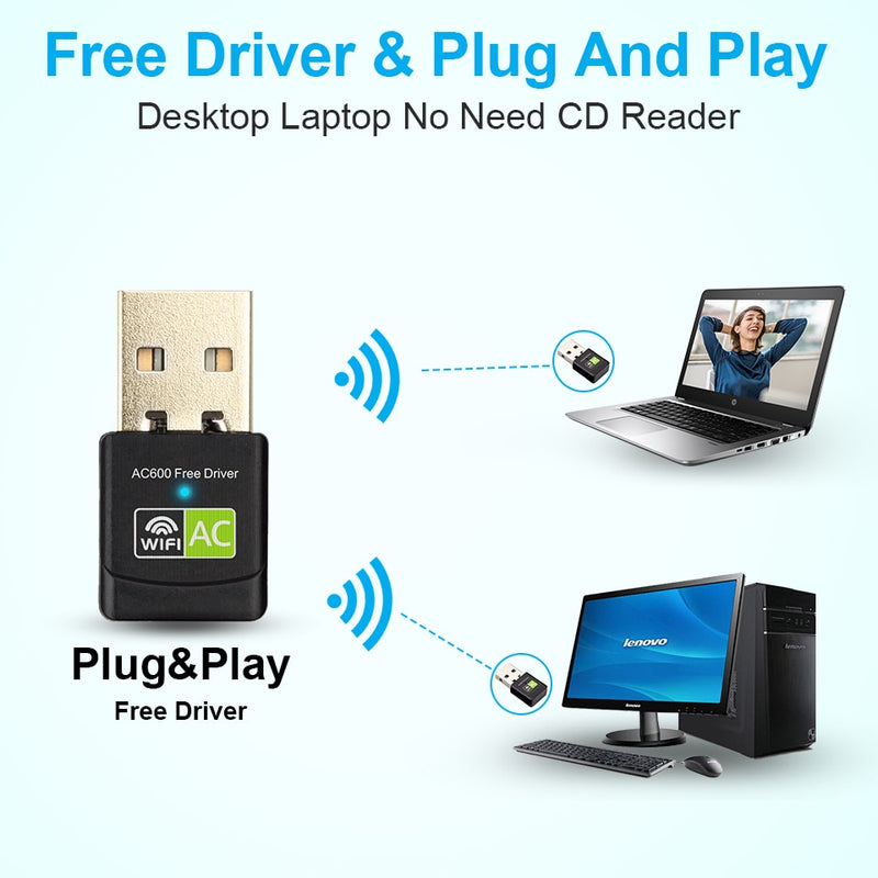 Driver USB Wifi Adapter 600Mbps