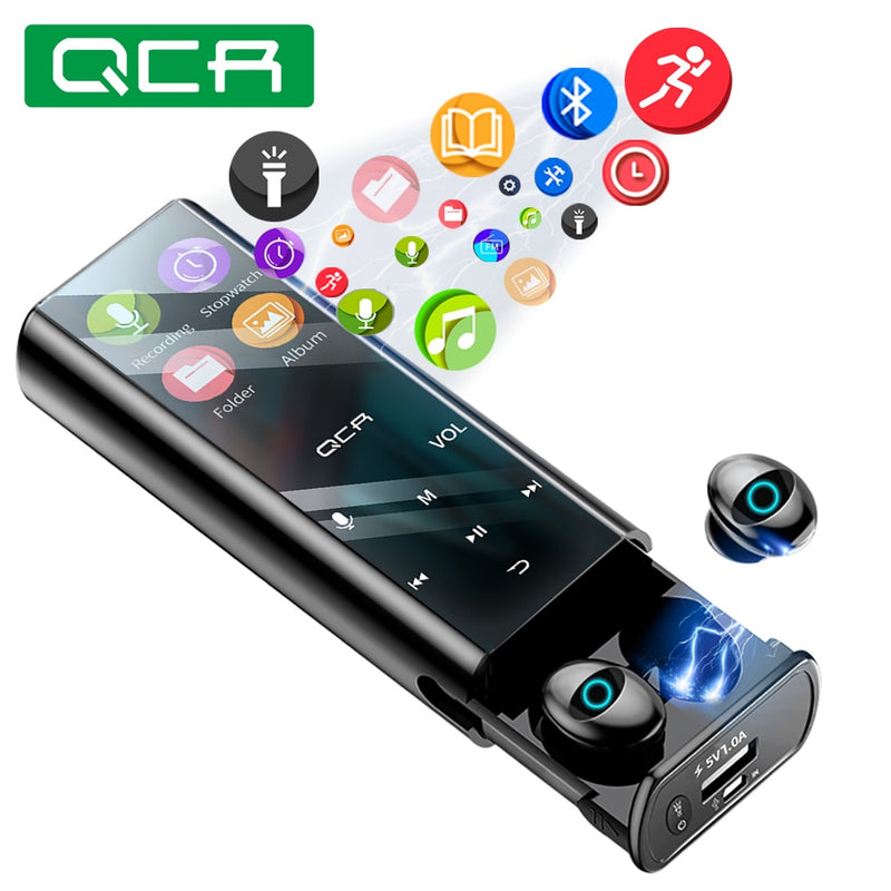 Multi-function MP3 Player Headest IPX7 Waterproof 9D TWS Headphone 6000mAh Power Bank