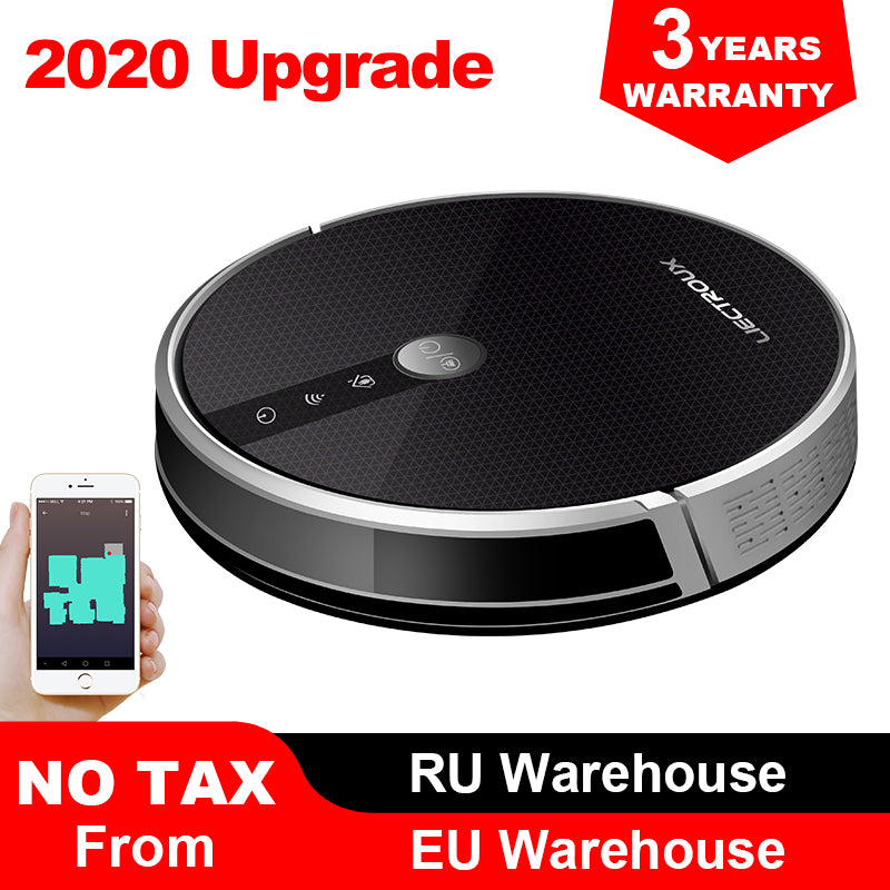 LIECTROUX C30B Robot Vacuum Cleaner Map Display on Wifi APP, Electric Water tank
